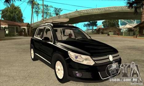 Volkswagen Tiguan 2.0 TDI 2012 para GTA San Andreas vista superior