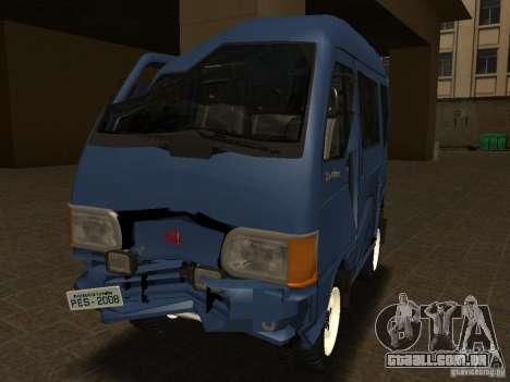 KIA Towner para GTA San Andreas vista interior