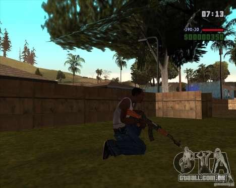 AK-47 com baioneta para GTA San Andreas segunda tela