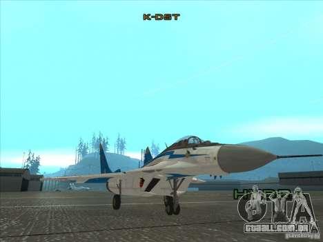 MiG-29 os andorinhões para GTA San Andreas esquerda vista