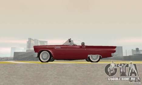 Ford Thunderbird 1957 para GTA San Andreas vista traseira
