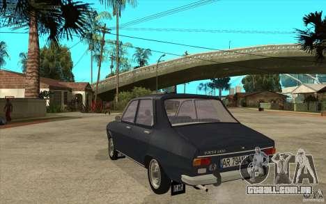 Dacia 1300 v2 para GTA San Andreas traseira esquerda vista