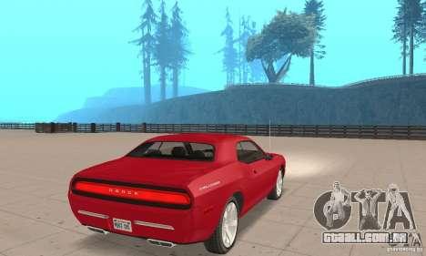 Dodge Challenger 2007 para GTA San Andreas esquerda vista