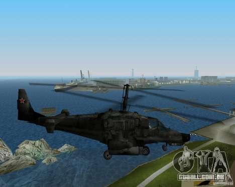 Ka-50 para GTA Vice City vista traseira esquerda