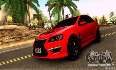 Holden HSV GTS para GTA San Andreas esquerda vista