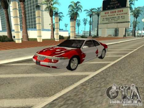 Lincoln Mark VIII 1996 para vista lateral GTA San Andreas