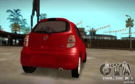 Nissan Micra 2011 para GTA San Andreas esquerda vista