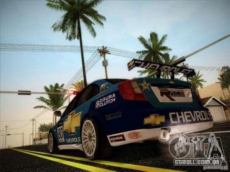 Chevrolet Lacetti WTCC v2 para GTA San Andreas vista traseira
