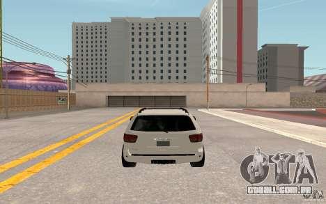 Toyota Sequoia 2011 para GTA San Andreas vista traseira