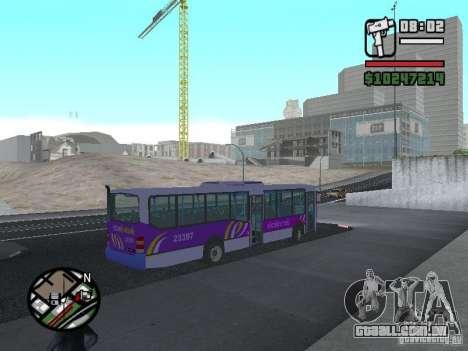 Marcopolo Viale III para GTA San Andreas traseira esquerda vista