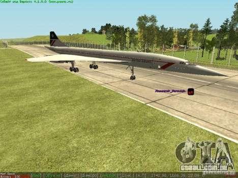 Concorde [FINAL VERSION] para GTA San Andreas