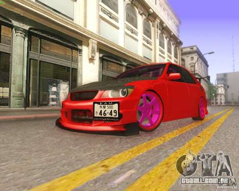 Toyota Altezza Drift Style v4.0 Final para GTA San Andreas vista superior