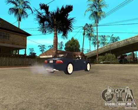BMW Z3 Roadster para GTA San Andreas traseira esquerda vista