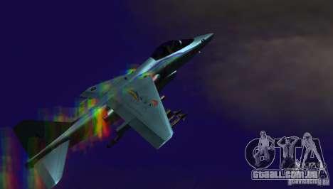 RainbowDash Hydra para GTA San Andreas traseira esquerda vista