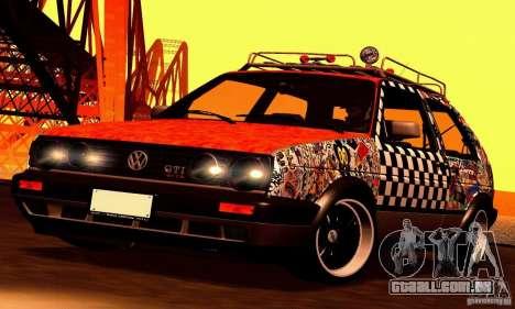 Volkswagen MK II GTI Rat Style Edition para GTA San Andreas vista traseira