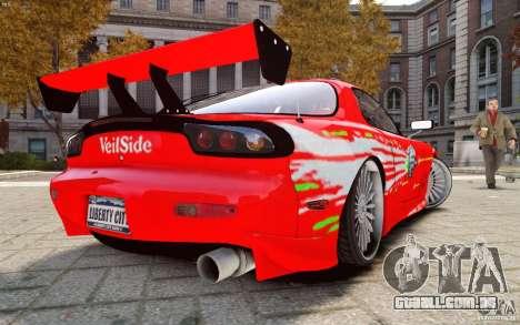 Mazda RX-7 Fast and Furious para GTA 4 esquerda vista