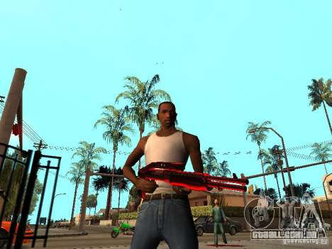 Red Chrome Weapon Pack para GTA San Andreas por diante tela