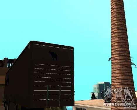 Schmitz para GTA San Andreas traseira esquerda vista