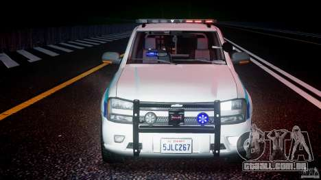 Chevrolet Trailblazer Police V1.5PD [ELS] para GTA 4 vista superior