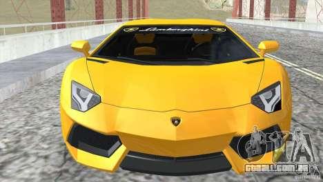 Lamborghini Aventador LP700-4 2012 para vista lateral GTA San Andreas