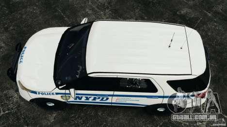 Ford Explorer NYPD ESU 2013 [ELS] para GTA 4 vista direita