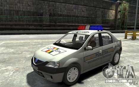 Dacia Logan Prestige Politie para GTA 4