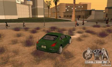 Nissan 350Z stock para GTA San Andreas esquerda vista