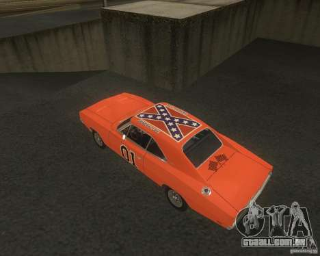 Dodge Charger para GTA San Andreas vista traseira