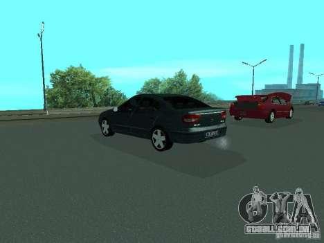 Renault Megane I para GTA San Andreas vista traseira