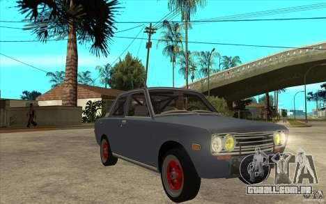 Datsun 510 JDM Style para GTA San Andreas vista traseira