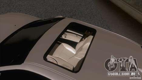 BMW M5 2009 para GTA San Andreas vista inferior
