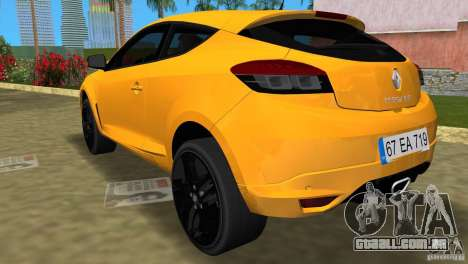 Renault Megane 3 Sport para GTA Vice City deixou vista