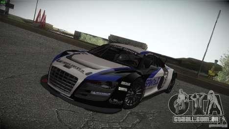 Audi R8 LMS para GTA San Andreas vista superior
