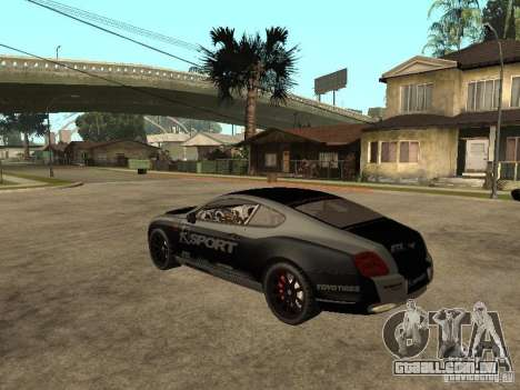 Bentley Continental SS Skin 4 para GTA San Andreas esquerda vista