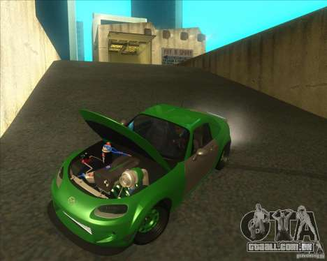 Mazda Miata MX-5 Konguard 2007 para GTA San Andreas vista interior