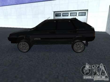 VAZ 2109 ajustáveis para GTA San Andreas vista traseira