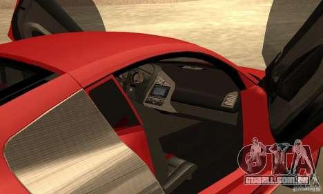 Audi R8 Custom para GTA San Andreas vista direita