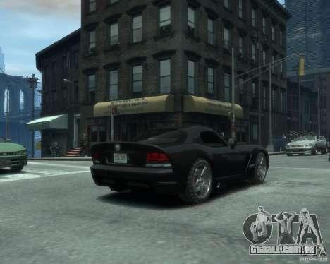 Dodge Viper srt-10 Coupe para GTA 4 traseira esquerda vista