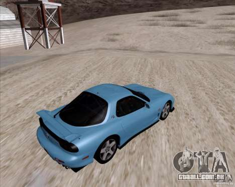 Mazda RX7 2002 FD3S SPIRIT-R (Type RS) para GTA San Andreas vista direita