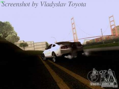 Ford Mustang GT 2011 para GTA San Andreas vista superior