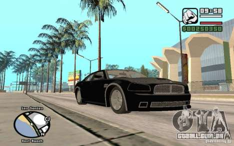 Dodge Charger SRT8 para vista lateral GTA San Andreas