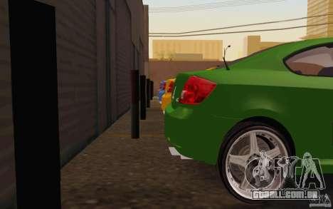 Scion tC para GTA San Andreas vista interior