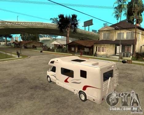 Chevrolet Camper para GTA San Andreas esquerda vista