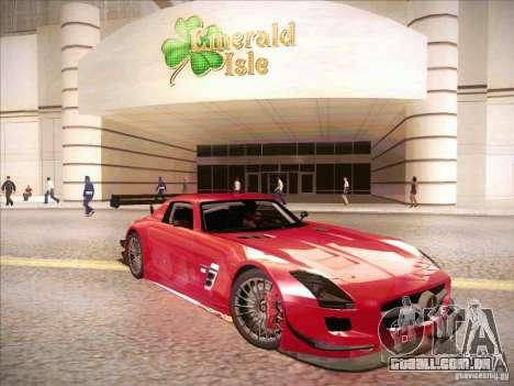 Mercedes-Benz SLS AMG GT-R para GTA San Andreas traseira esquerda vista