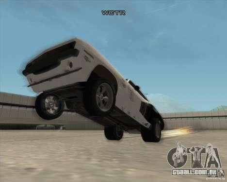 Plymouth Hemi Cuda Rogue para vista lateral GTA San Andreas