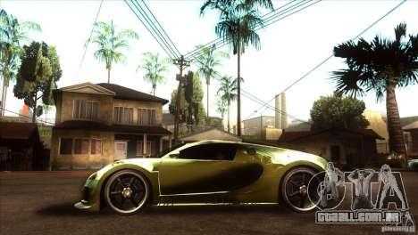 Bugatti Veyron Life Speed para GTA San Andreas esquerda vista