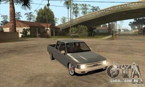 Toyota Hilux 1990 para GTA San Andreas vista traseira
