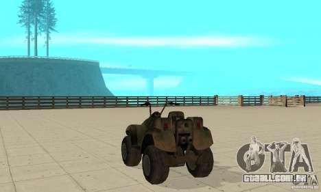 ATV do TimeShift para GTA San Andreas traseira esquerda vista