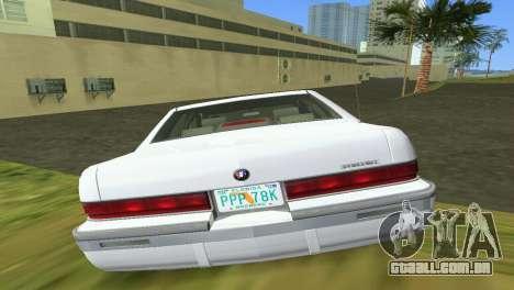 Buick Roadmaster 1994 para GTA Vice City vista interior