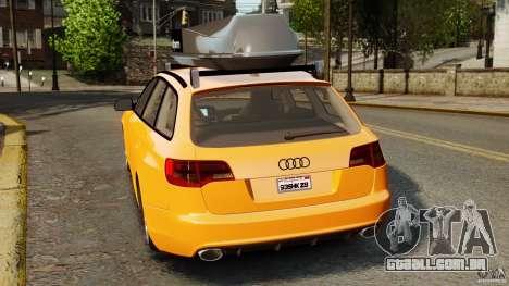 Audi A6 Avant Stanced 2012 v2.0 para GTA 4 traseira esquerda vista